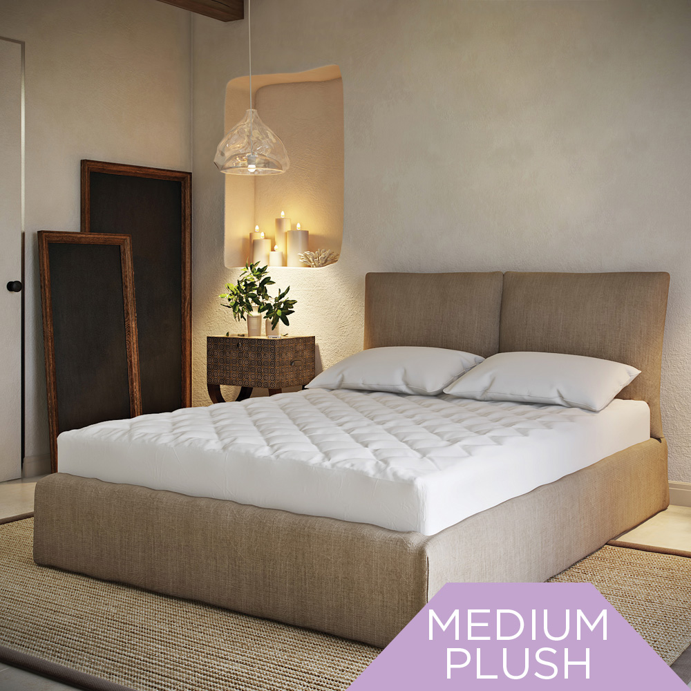 SPA LUXE® Cool Touch Moisture Wicking Mattress Pad